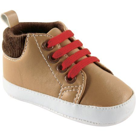 Luvable Friends Newborn Baby Boys High-Top Boots, Newborn Boy's, Size: 0 - 6 Months, Brown