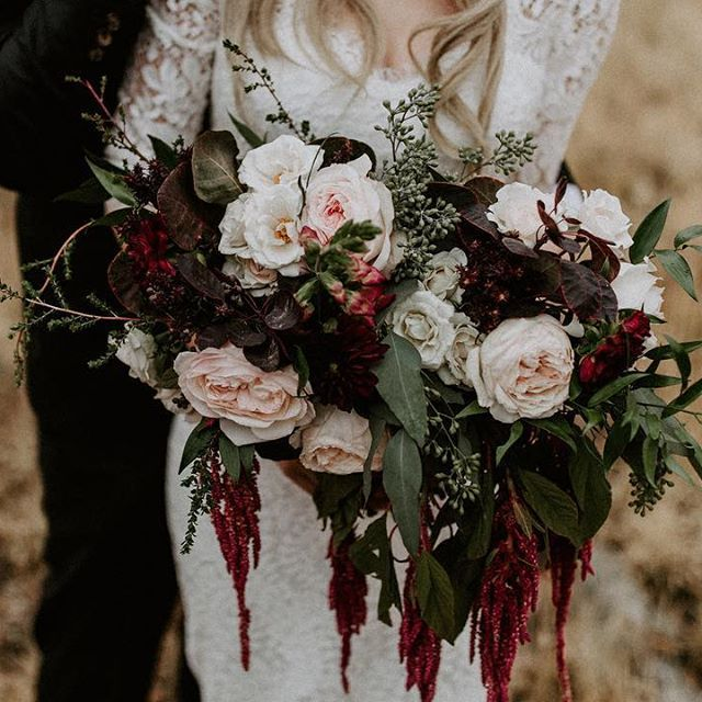 Outdoor November Wedding Flowers: Dark & Moody Floral Inspiration Perfect For A Fall Wedding