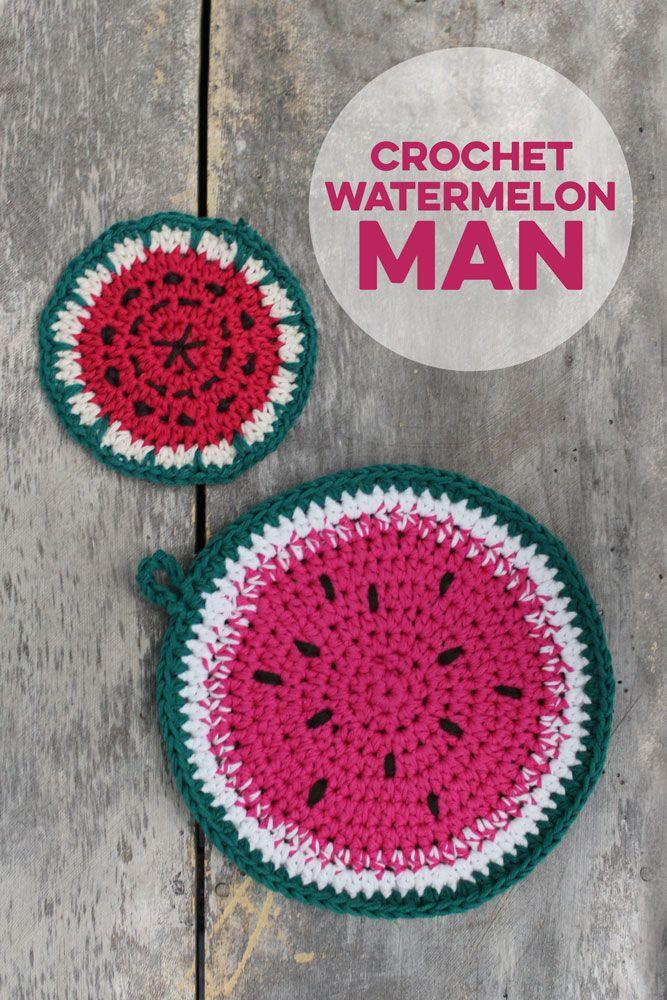 3 in 1: Häkelanleitung für Früchte-Topflappen Tenri | Wassermelone ...