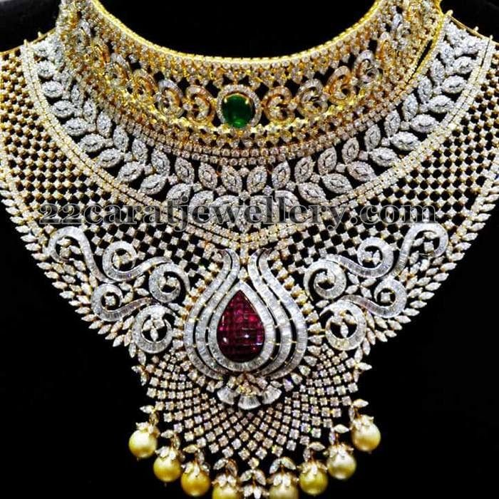 Jewellery Designs Tremendous Bridal Diamond Choker