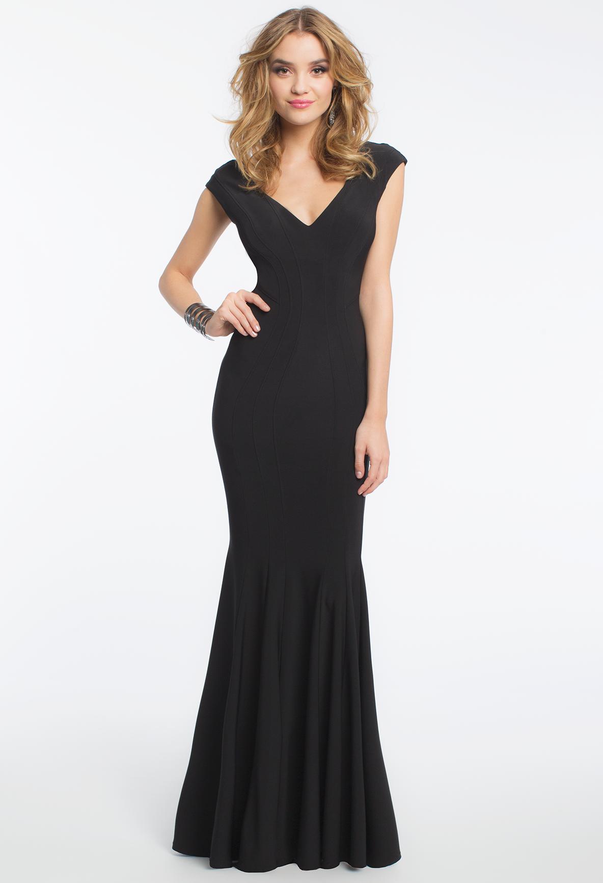 Double V Seam Body Dress camillelavie PROM DRESSES LONG