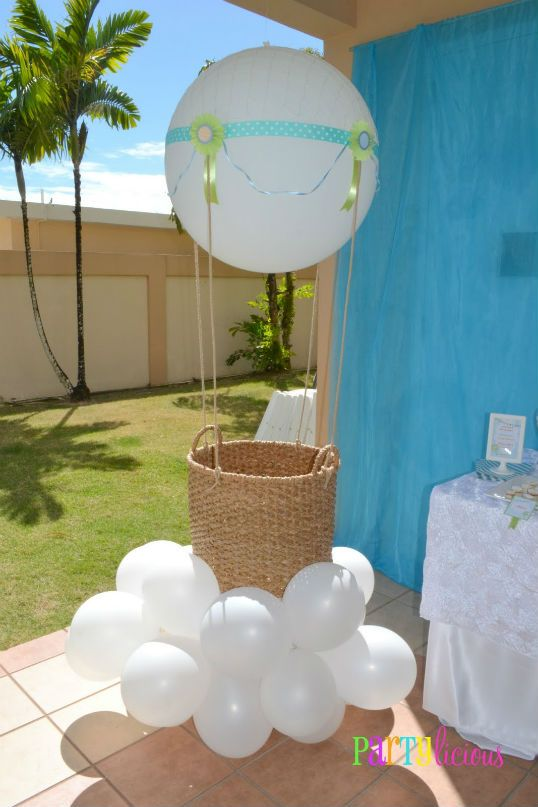 The Party Wagon Blog Hot Air Balloon Baby Shower Big Balloon