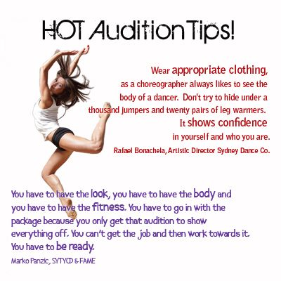 Audition tips for mostly dance but also drama Theater - audition form