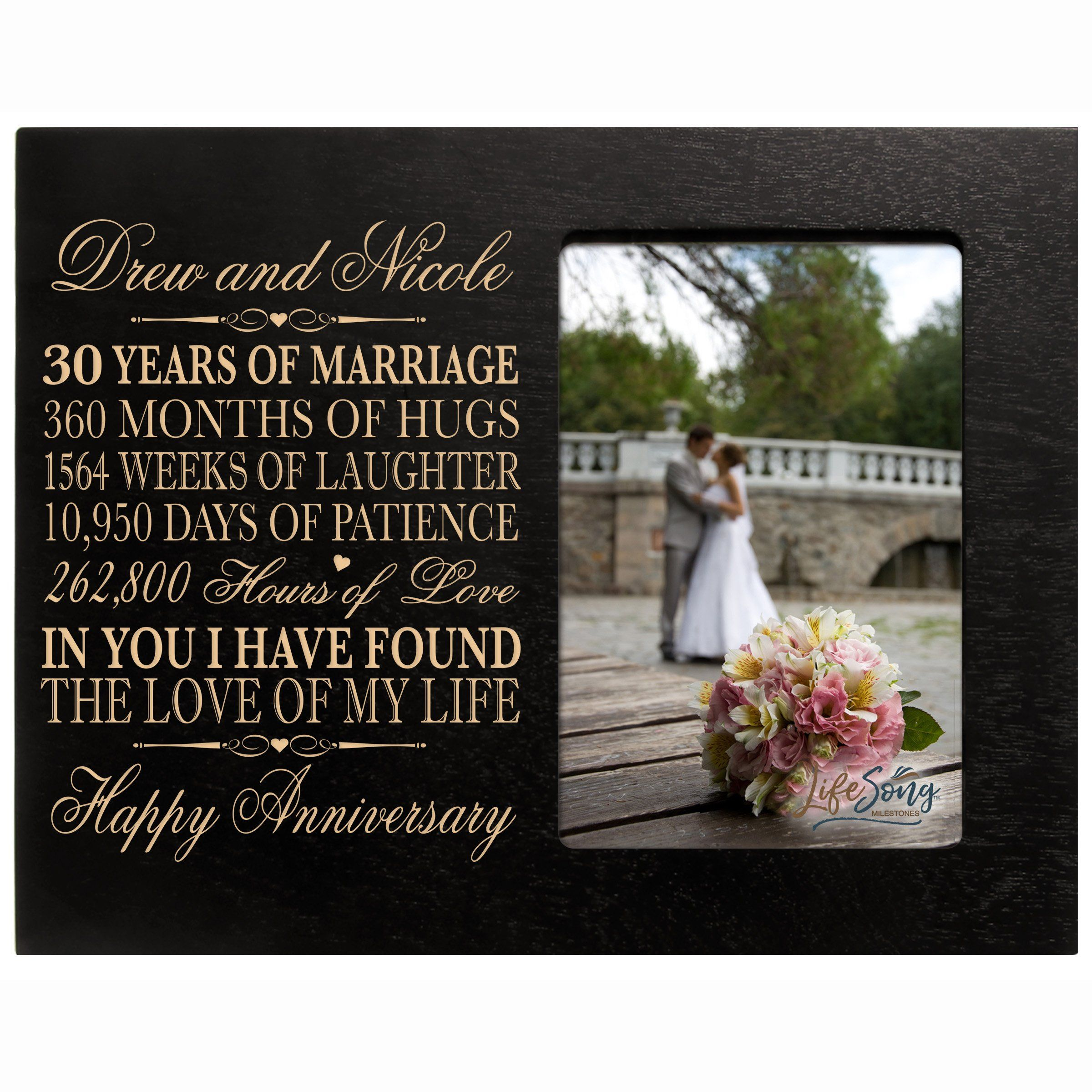 Personalized 30th Year Wedding Anniversary Picture Frame
