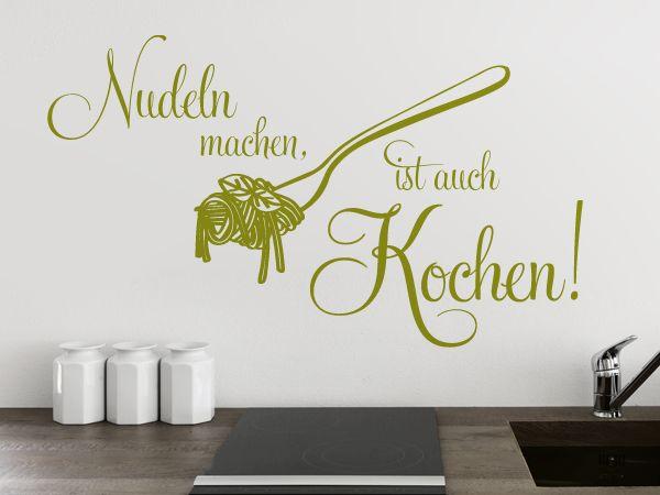 Perfektes Wandspruch Fur Nudelliebhaber Nudel Machen Ist Auch Kochen Wandtattoo Kuche Wandtattoos Kuche Wandtattoo