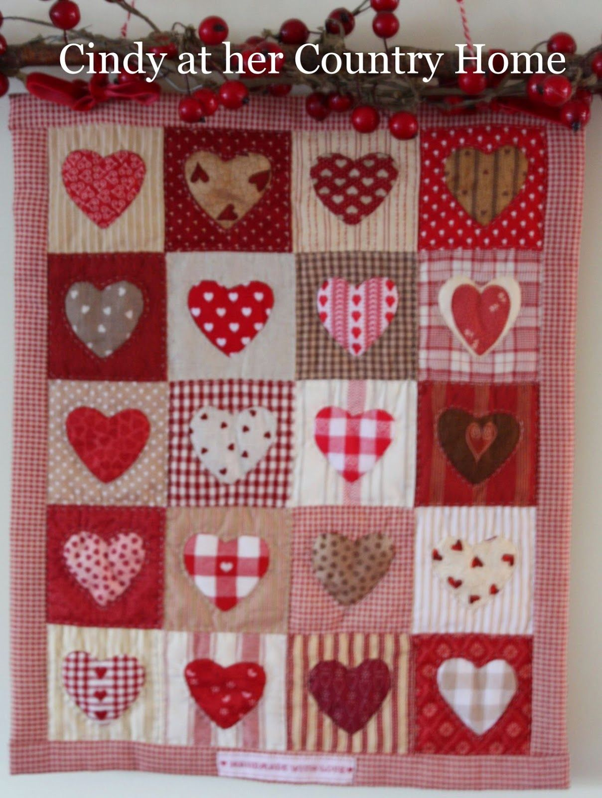 """Cindy at her Country Home: """"In the mood for Valentine ... : country home quilts - Adamdwight.com"""