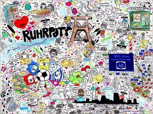 Poster-Leinwandbild-Ruhrpott-SaRidie-arts