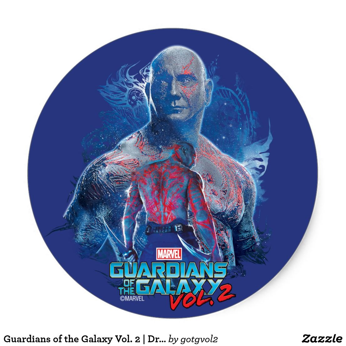 Guardians Of The Galaxy Vol 2 Drax Collage Classic Round Sticker Special Guardians Of The Galaxy Gift Ideas To Guardians Of The Galaxy Galaxy Gifts Galaxy