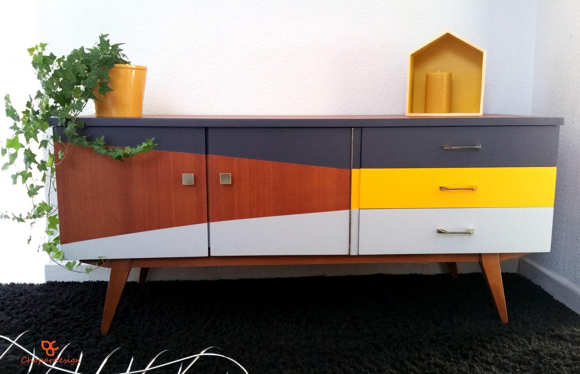 Enfilade vintage style scandinave en teck années 60 : Meubles et ...
