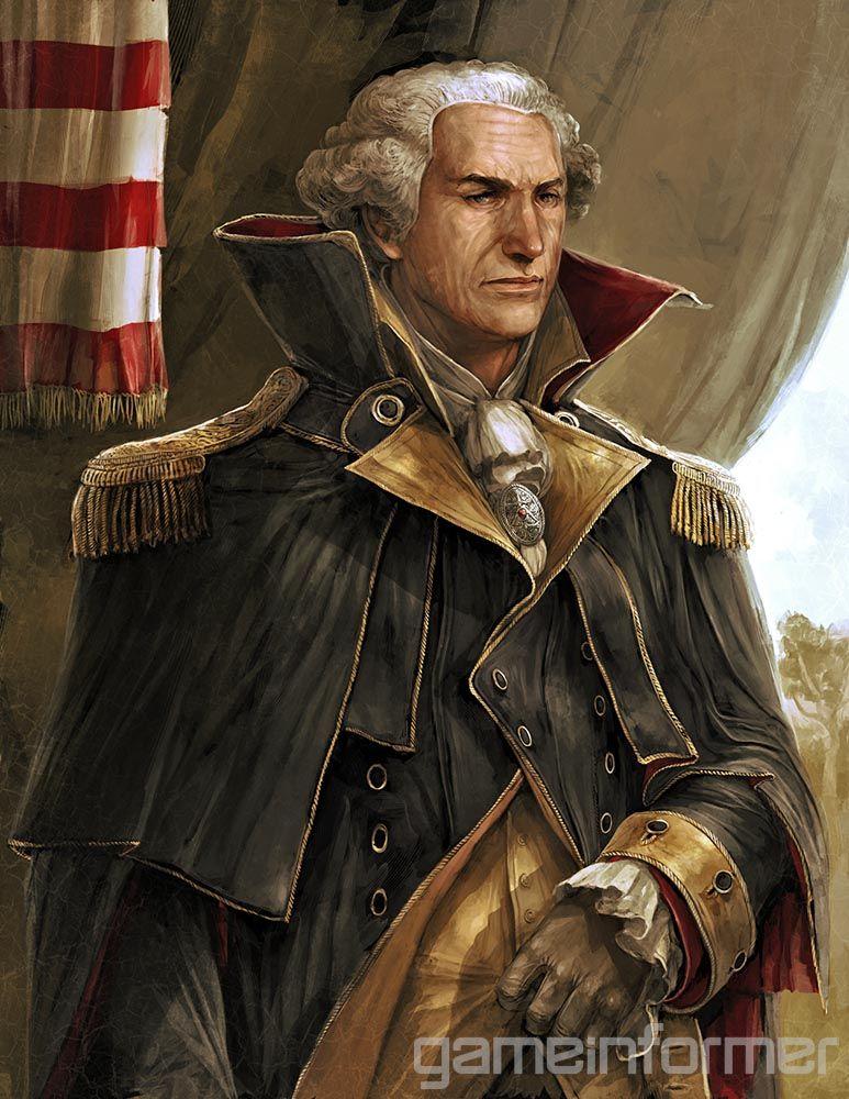 Assassin S Creed Iii S George Washington Portrait Assassins Creed Artwork Assassin S Creed Assassins Creed Ii
