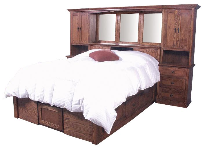 Bed Storage Towers Mission Oak Bedroom Pier Wall And Platform