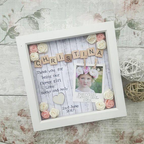 Flower Girl Gift, Flower Girl Frame, Bridesmaid Gift, Present For ...