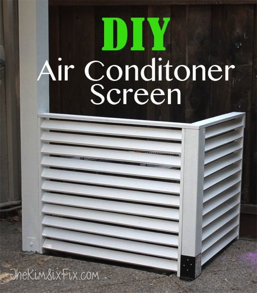 Disguise your AC with a DIY Louvered Screen via