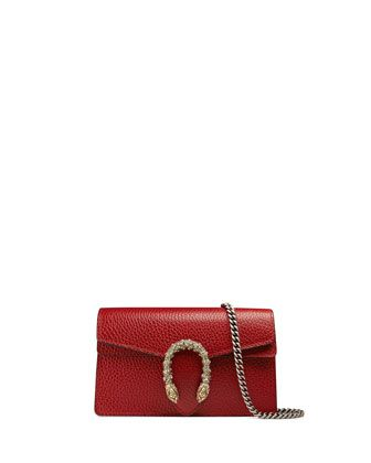 Dionysus Leather Super Mini Bag Red By Gucci At Bergdorf Goodman