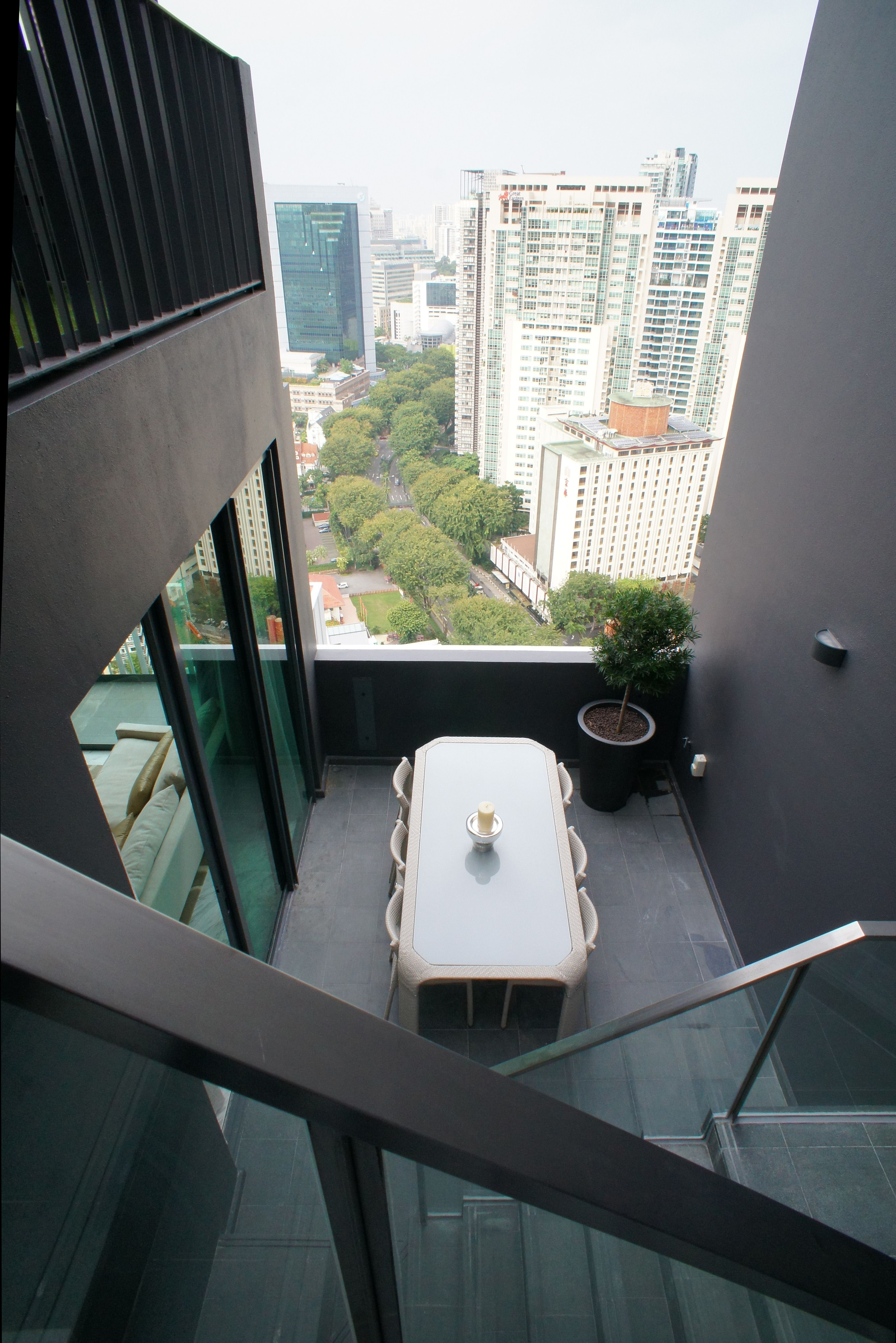 Views from L'VIV Singapore Penthouse Unit.  For Sale. Fully Furnished.