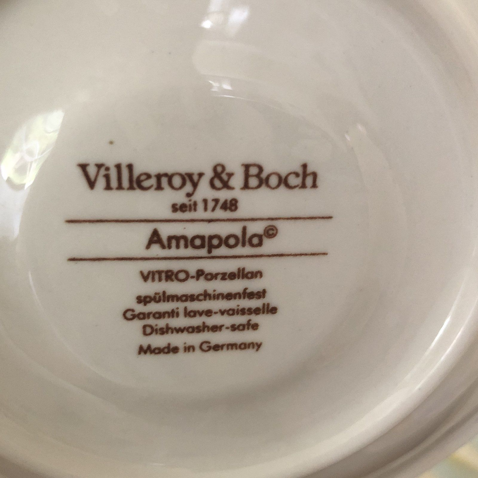 1980s Villeroy Boch Amapola Cup Saucers Set Of 8 Cup And