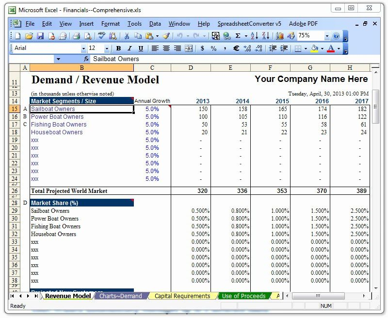 Business Plan Template Excel Fresh Raise Capital