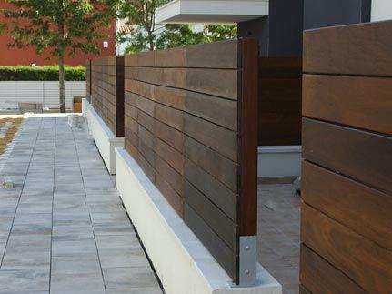 Vallas de madera jardines pinterest valla de madera - Plantas para vallas ...