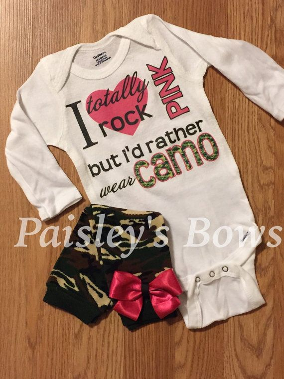 Cute country camo baby girl set by PaisleyBows on Etsy ...