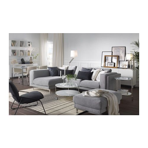 Nockeby 3er Sofa Mit Recamiere Links Tallmyra Tallmyra Verchromt Weiss Schwarz Verchromt Ikea Deutschland Ikea Living Room Ikea Nockeby Sofa Living Room Seating
