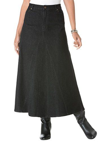 Jessica London Women's Plus Size Denim Maxi Skirt | Plus Size ...