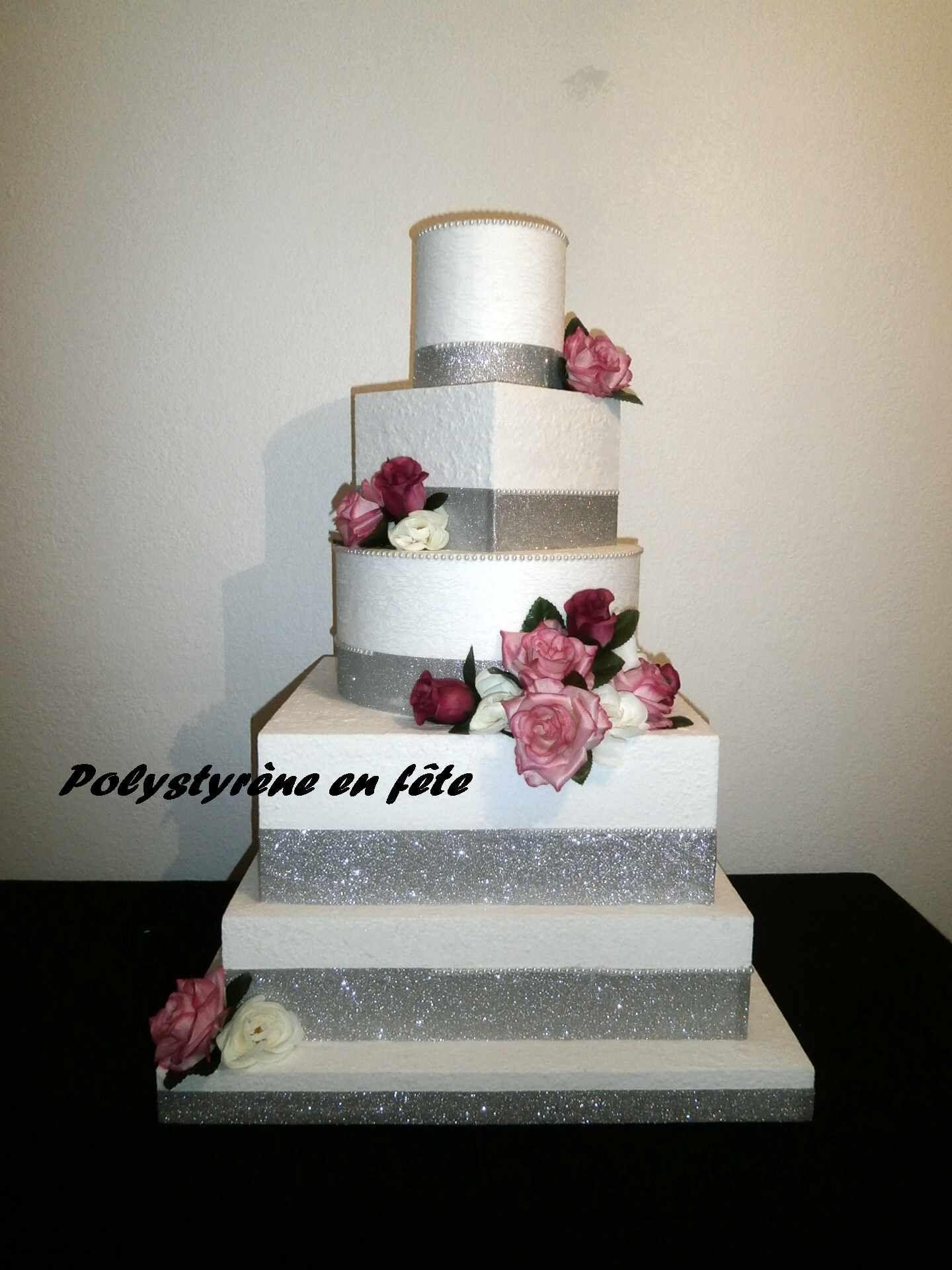 Petit Gâteau 2-mythologique//2-set Ø 20//15x5 cm factice Vitres Mariage Cake Polystyrène