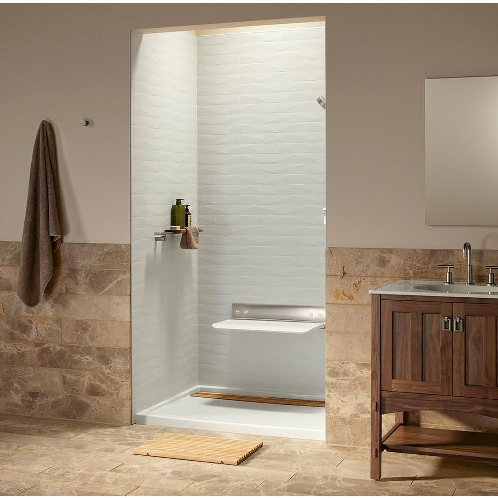 Shower Wall Panels Home Depot kohler choreograph 0.3125 in. x 60 in. x 96 in. 1-piece shower