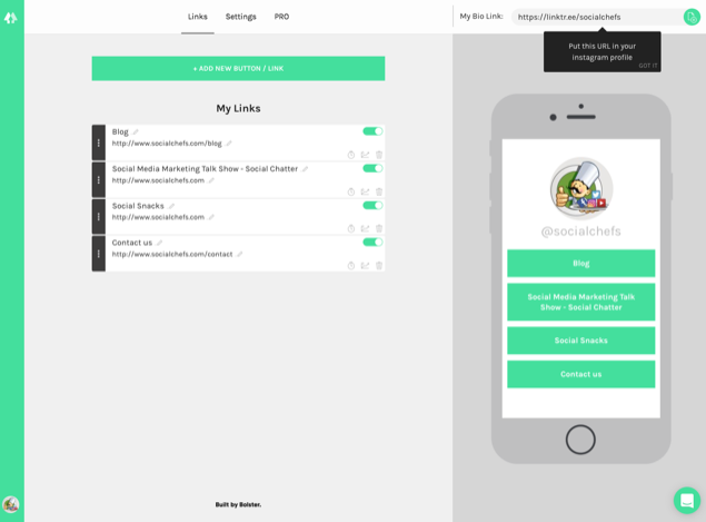 Instagram Bio Links 5 Tools To Add Links Social Chefs Blog Tools Instagram Bio Multiple Instagram Accounts