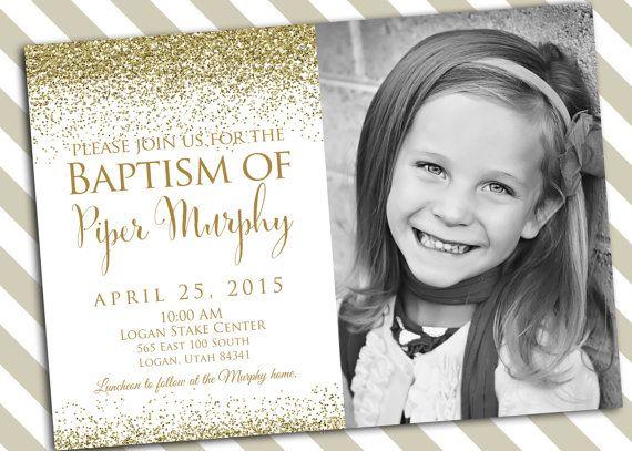 Baptism Invitation Printable - Girl Baptism Invitation - LDS Baptism - invitation for baptism girl