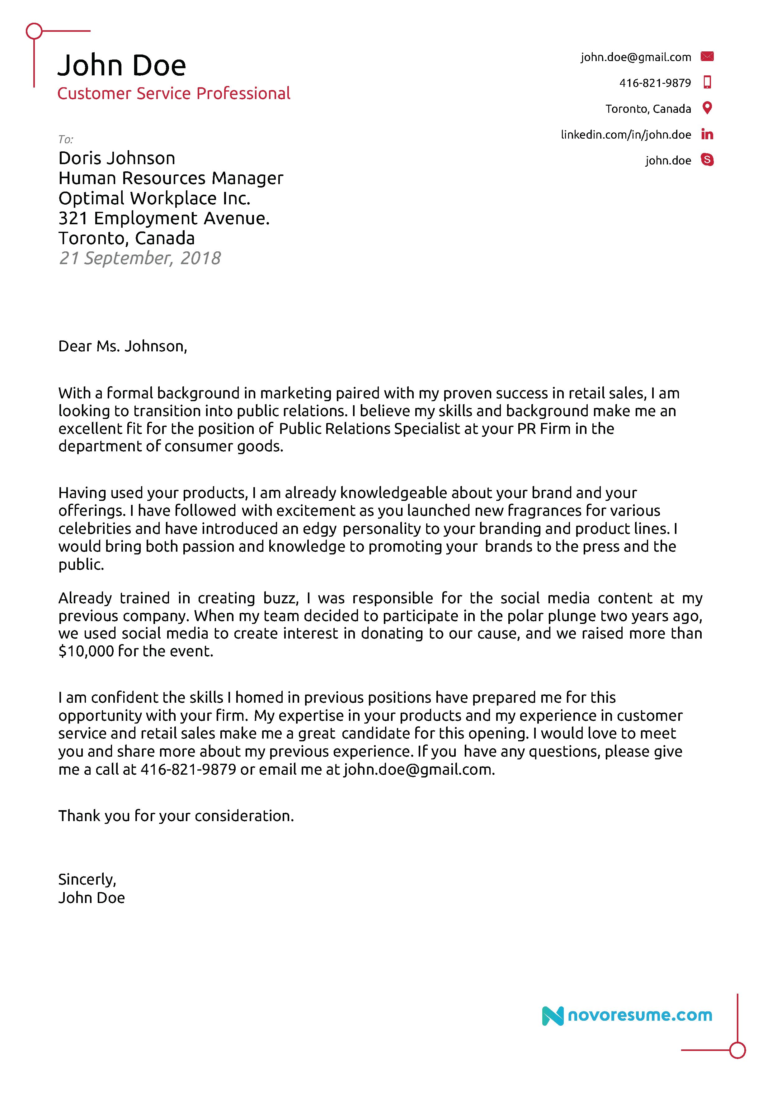 30 Cover Letter Examples For Job Career Change Cover Letter Resume Cover Letter Examples Cover Letter Example