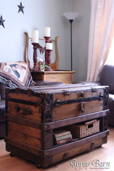 Old Trunk Repurpose What A Great Idea Trunk Table Vintage