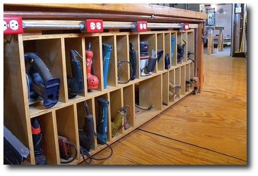 homemade tool storage ideas bing images power tool on cool diy garage organization ideas 7 measure guide on garage organization id=40018