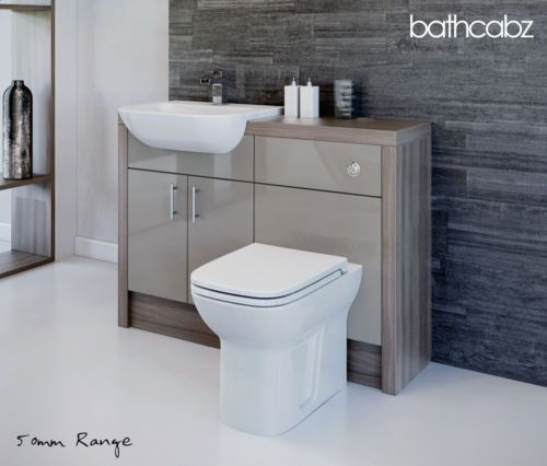 Details About Latte Driftwood Bathroom Fitted Furniture 1200mm