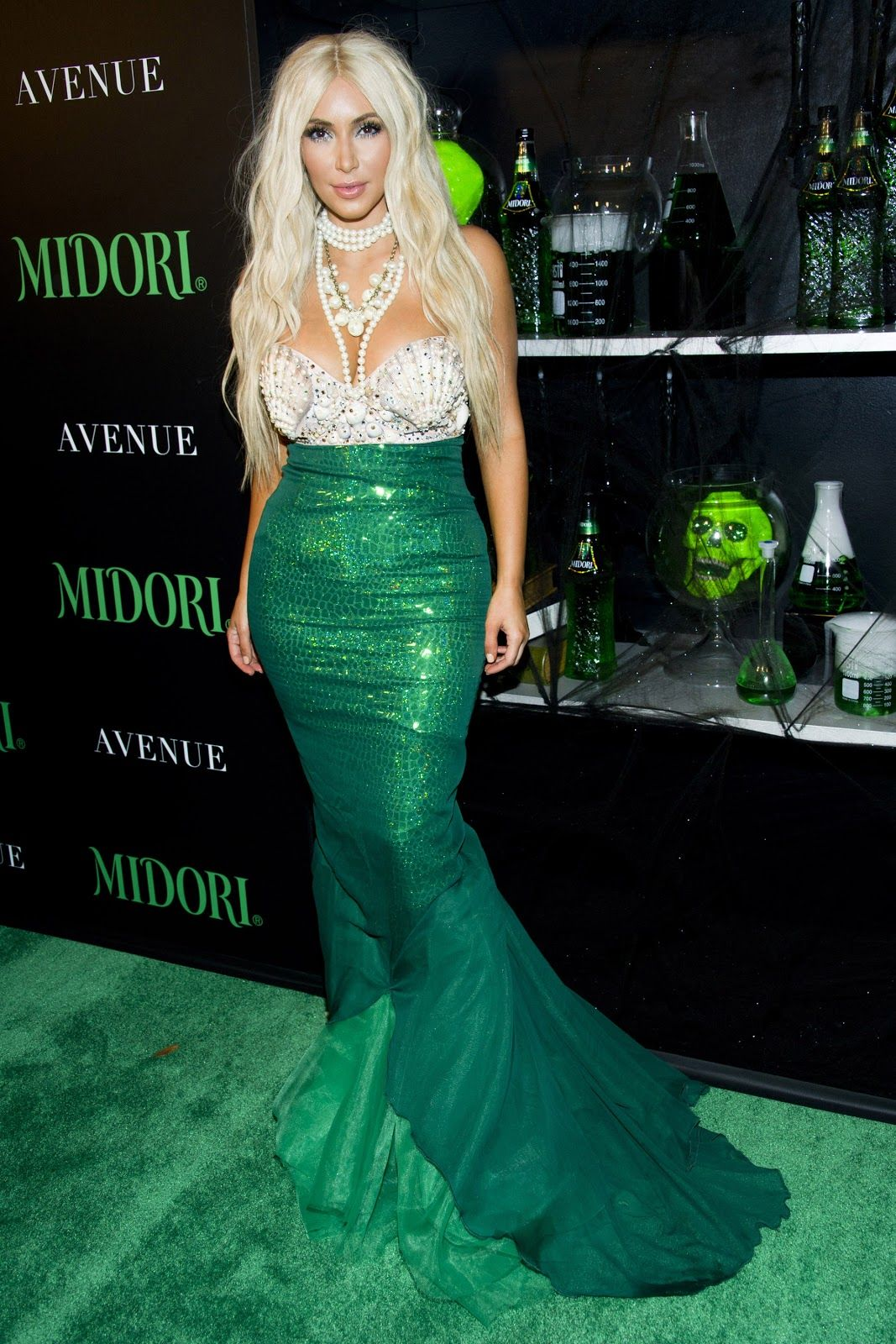 Kim Kardashian – 2012 Midori Green Halloween Party | KIM ...