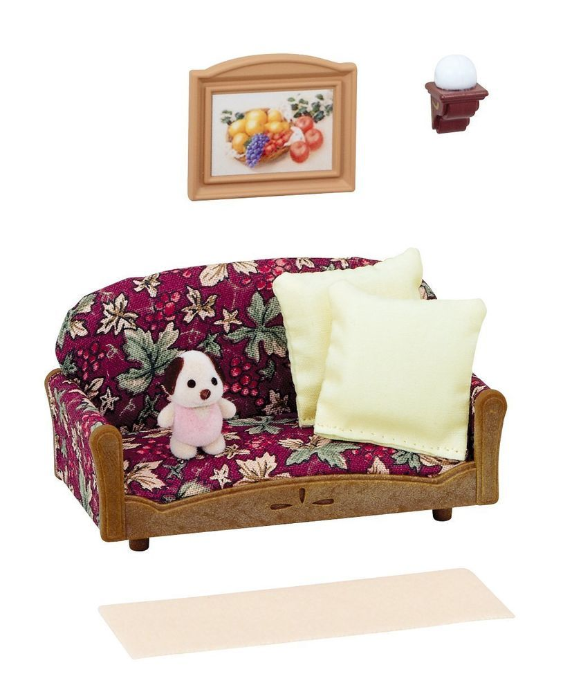 Sylvanian Families furniture cupboard toaster set