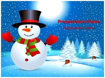 Download Ice Snowman Powerpoint Template For Your Upcoming