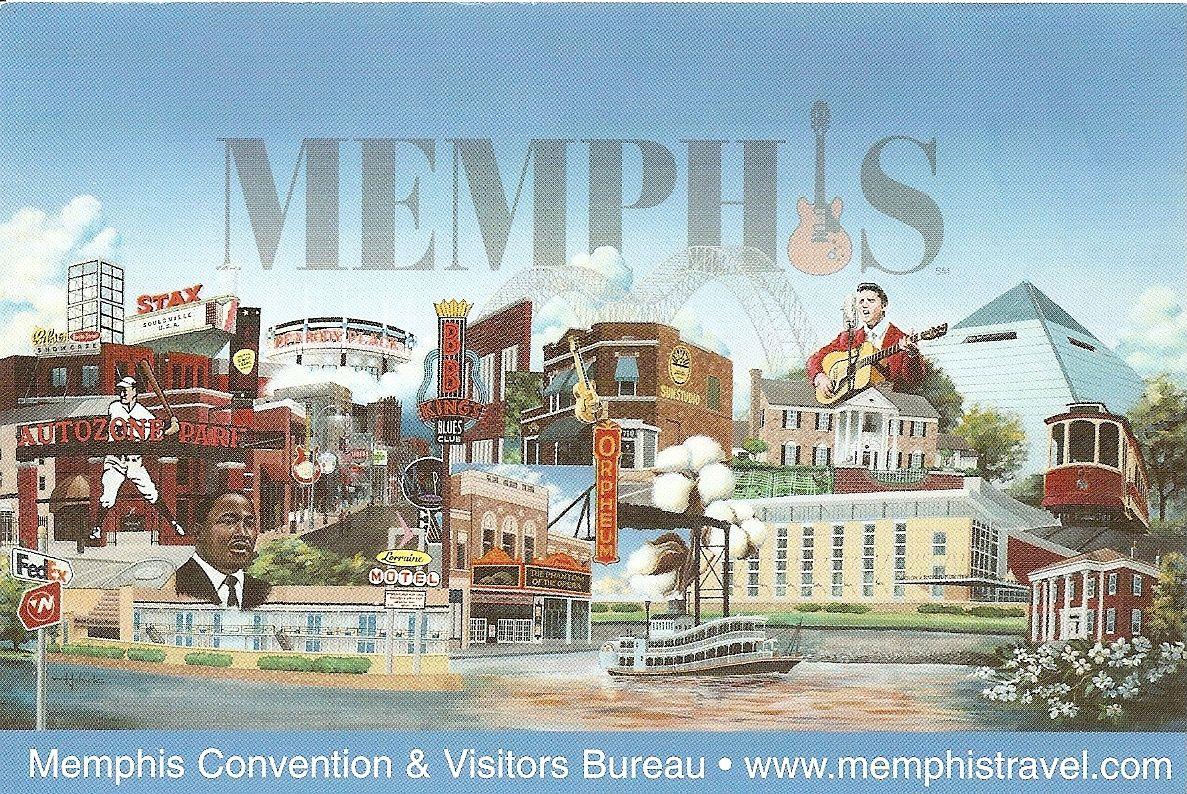 Memphis Post card Memphis, Postcard, Visitors bureau