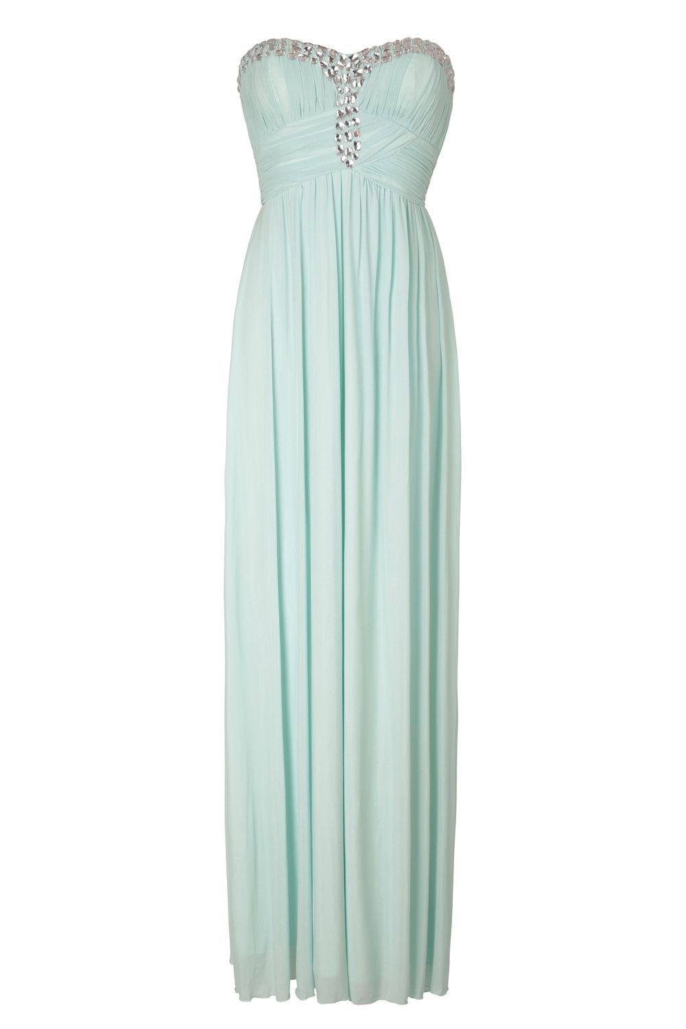 NAZZ COLLECTION MIA AQUA MINT SWEETHEART CRYSTAL BUSTIER MAXI GOWN ...