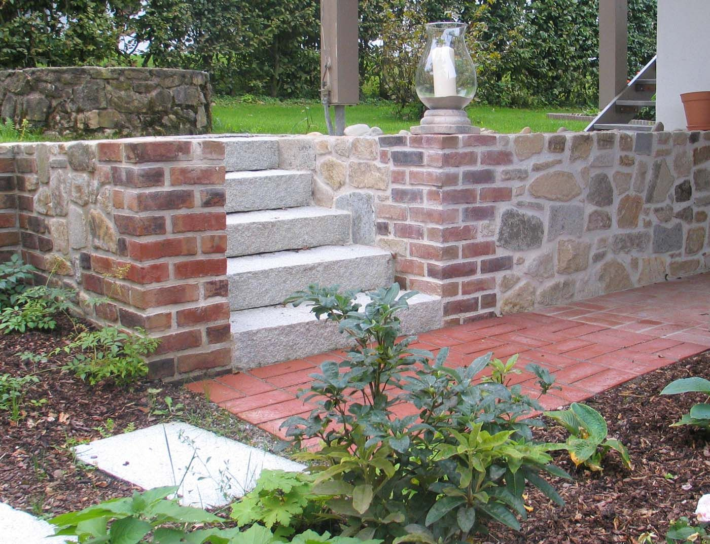 MauerTrockenmauerStein GartengestaltungGartenbau