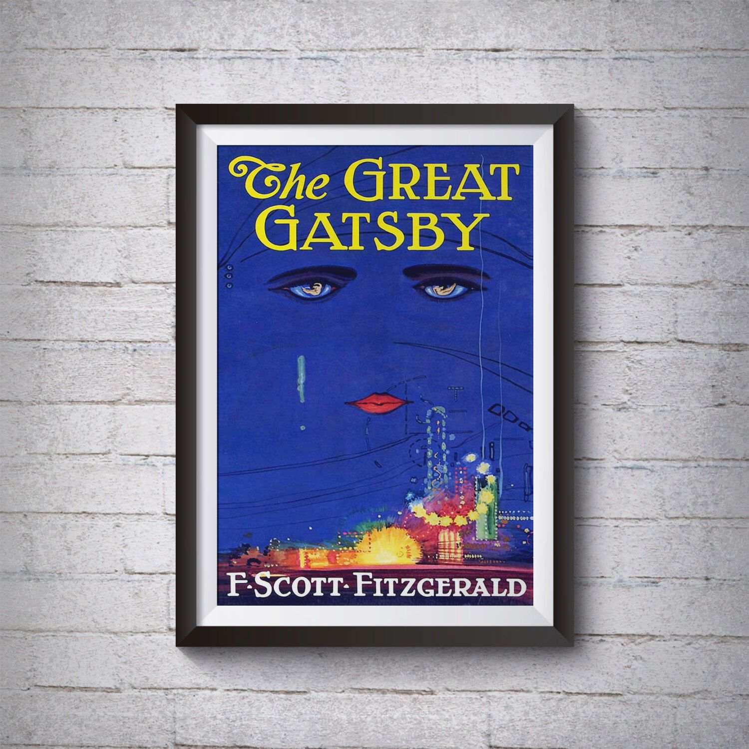 Great Gatsby Poster The Great Gatsby Print Great Gatsby Etsy Poster Prints Lovers Art Book Art