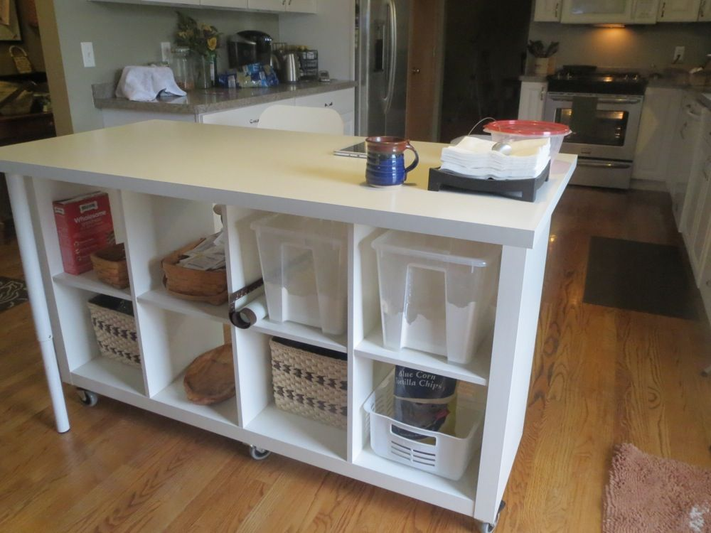 Genial Extendable Kitchen Island Using Expedit And Linmon   IKEA Hackers
