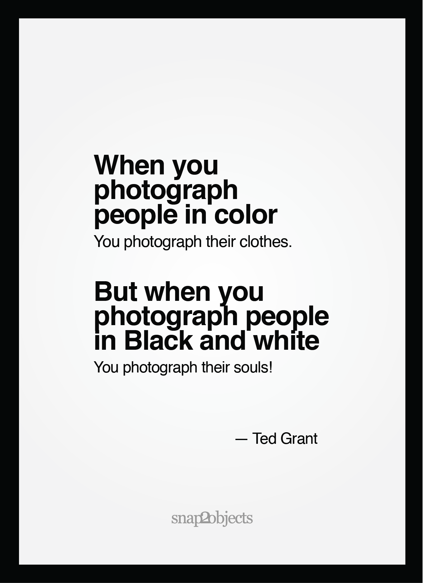 """When you photograph people in color, you photograph their clothes. But when you photograph people in Black and white, you photograph their souls!"" ― Ted Grant Now I finally get it. Maybe be… #allwhiteclothes"