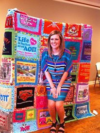 Tshirt Rag Quilt | Things I've made from Pinterest! | Pinterest ... : tshirt rag quilt - Adamdwight.com