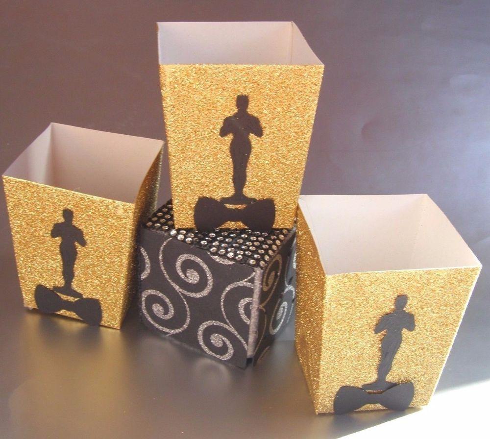 Birthday gift bags 5 cooking for oscar - 10 Oscars Movie Night Popcorn Academy Awards Oscar Party Gift Bags Popcorn Boxes Oscars