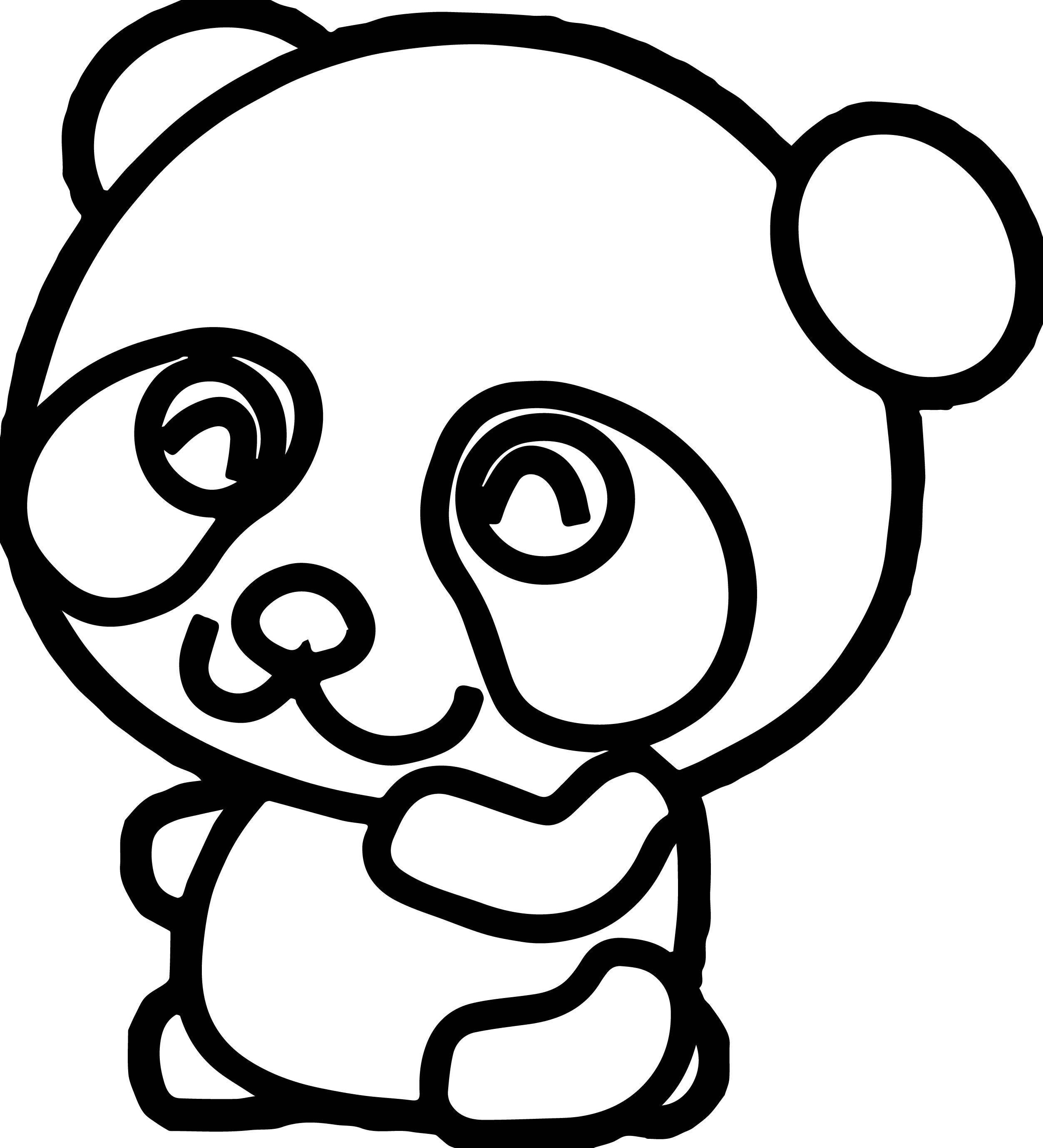 Cool Cute Kung Fu Panda Coloring Page Panda Coloring Pages Emoji Coloring Pages Monster Coloring Pages