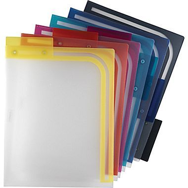 Assorted Letter 5//Pack Staples Poly Expanding Hanging File Pockets