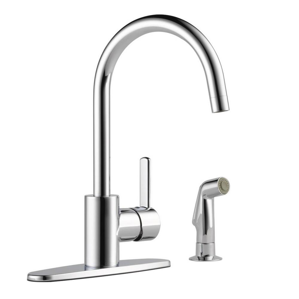 Peerless Apex Single Handle Standard Kitchen Faucet With Side