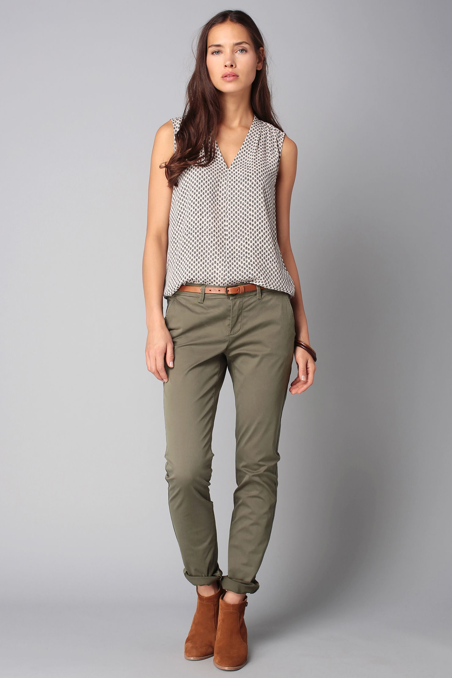Chino kaki The Farrow Flimsy | Womens casual