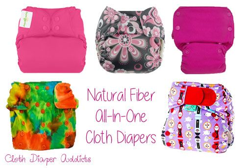 If you've decided that you love the convenience of an all-in-one, but only want natural fibers touching your baby... natural fiber all-in-one cloth diapers.