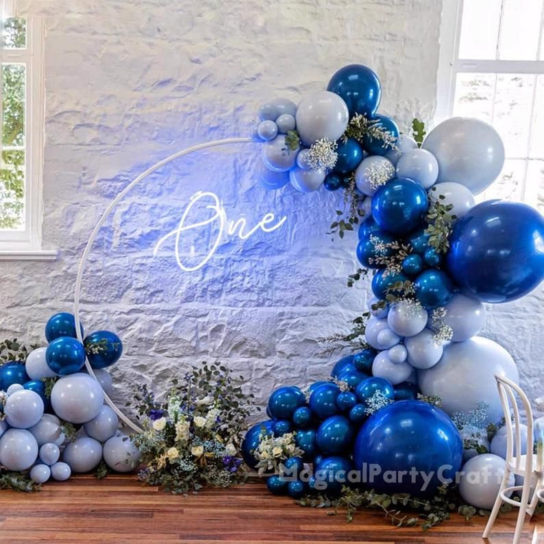 17ft Balloon Garland Kit Pink /& Blue Latex Balloons for Wedding Birthday Anniversary Party Decorations